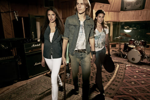 Margaret and Rainey Qualley, along with model Tom Heukels featured exclusively in Calvin Klein Jeans ...