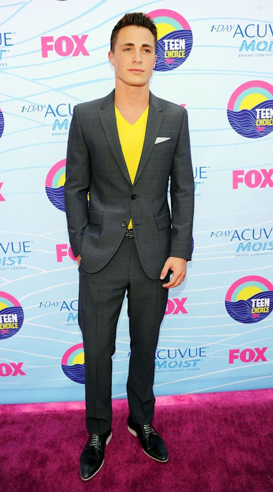 Actor Colton Haynes arrives at the 2012 Teen Choice Awards at Gibson Amphitheatre on July 22, 2012 in Universal City, California.
