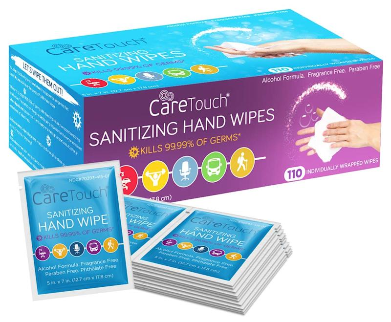Care Touch Hand Sanitizing Wipes