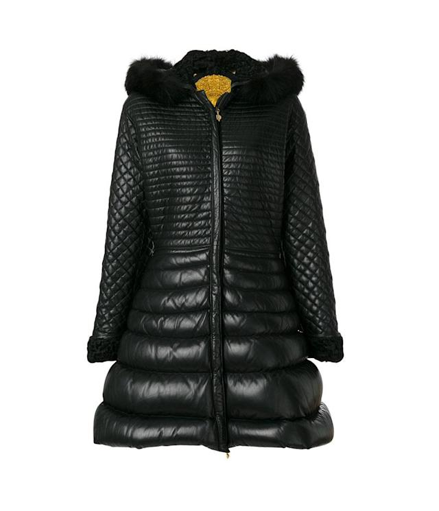 Quilted leather coat with fox-fur trim, autumn-winter 1992. (Photo: Courtesy of Farfetch)