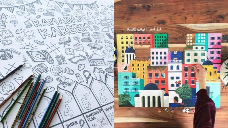 Activities like coloring books and games will make the holiday fun for kids.