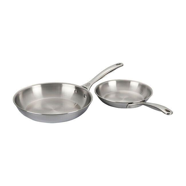"""Fry, fry, fry with this set of two fry pans from Le Creuset. You can use them on top of your stove or in the oven. And you know that stainless steel will help them last through lots of dinners.<a href=""""https://fave.co/37dpDHI"""" target=""""_blank"""" rel=""""noopener noreferrer"""">Originally $230, get them now for $132 at Le Creuset</a>."""