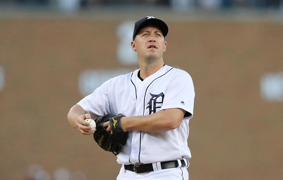 Jordan Zimmermann hasn't been the same pitcher since signing with the Tigers before the 2016 season. (AP Photo/Carlos Osorio)
