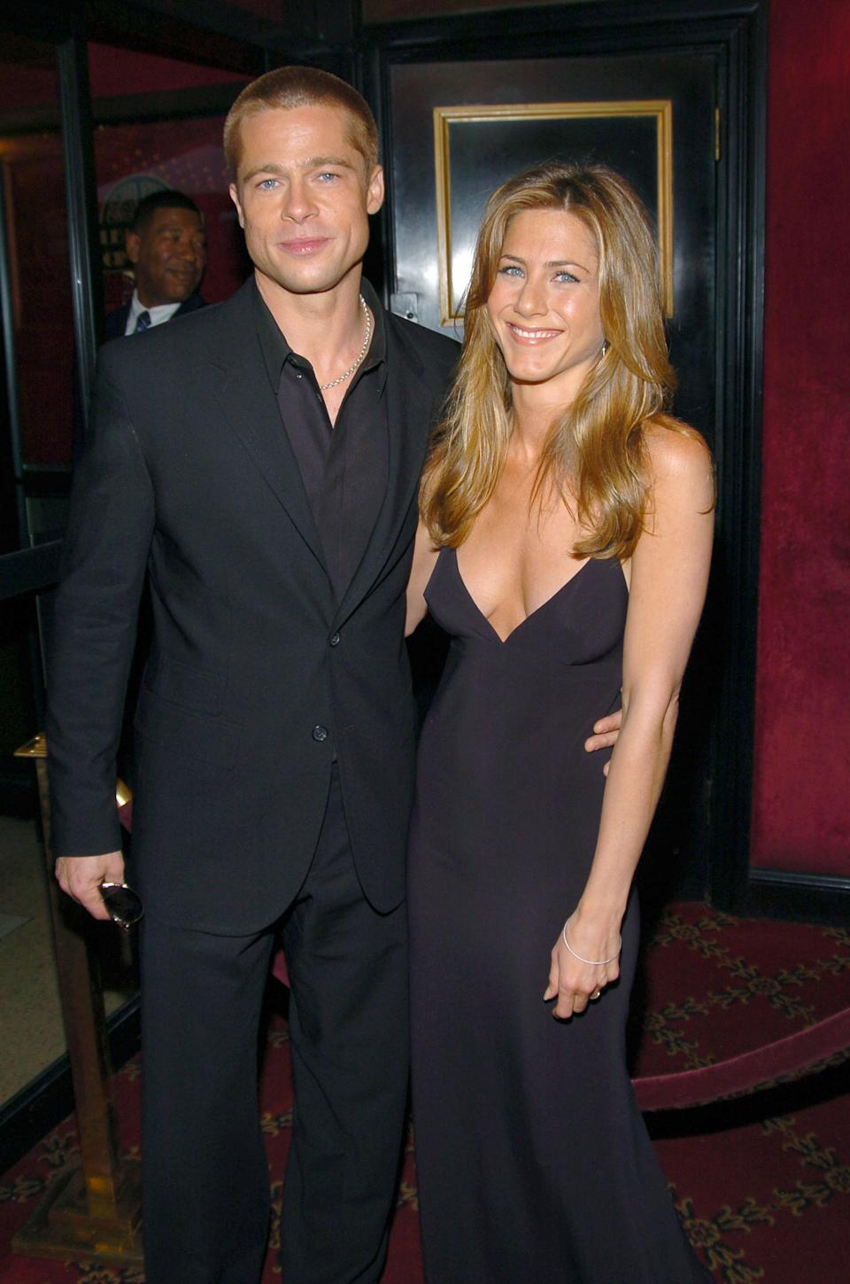<p>It seemed like a match made in heaven: the biggest name in film marries the most famous woman on television. Pitt and Aniston were set up by their agents in 1998 before tying the knot in Malibu two years later. Alas, it wasn't meant to be for the pair - who went on to have one of the most highly publicized splits in Hollywood history. <em>(Image via Getty Images)</em></p>