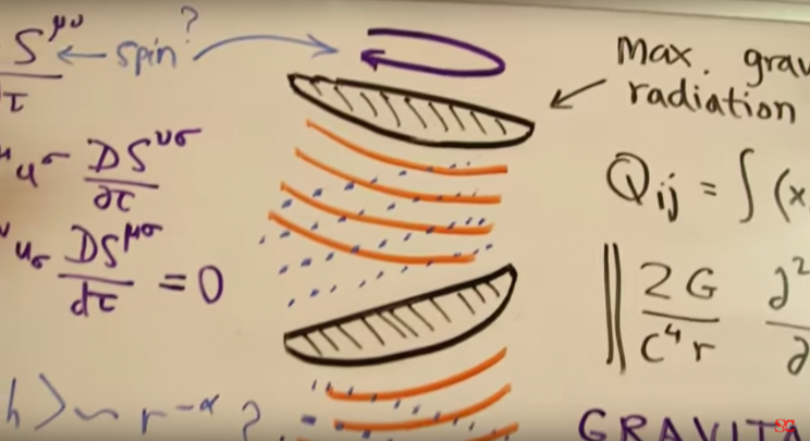 Scientist Stephen Wolfram uses a white board to explain the science behind the 'Arrival' spaceships in a scene from 'Science vs. Cinema'