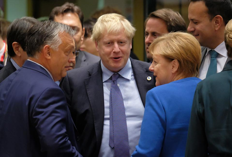 Boris Johnson works the room at a previous EU summit (Getty Images)
