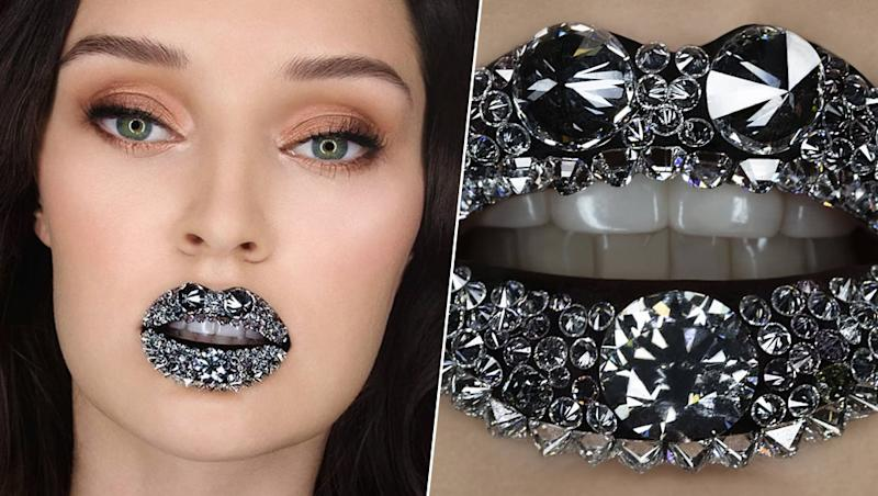 Most Valuable Lip Art! Lips Encrusted With 126 Diamonds Costing Rs 3.78 Crore Earns Guinness World Records Title