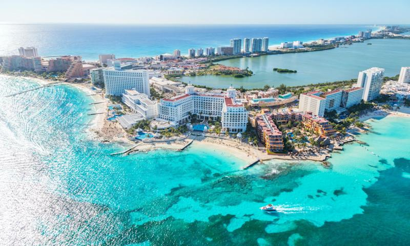 Yup. Cancun, Mexico, is on the list.