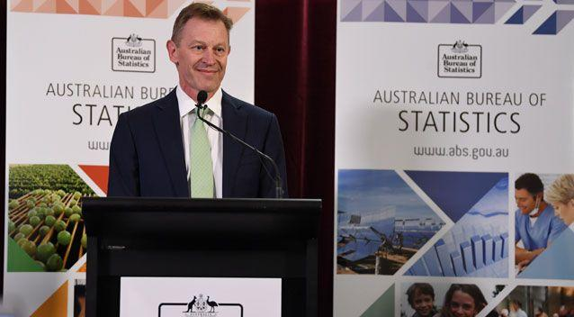 Australian Bureau of Statistics' David Kalisch took to the podium in Canberra to announce the results. Photo: AAP
