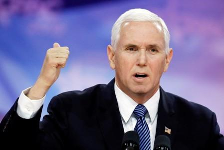FILE PHOTO:    U.S. Vice President Mike Pence speaks at CPAC in Washington