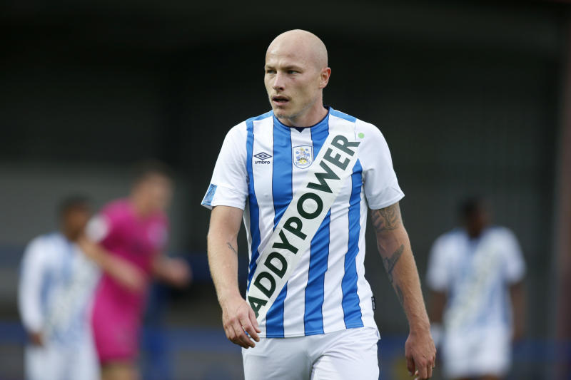 ROCHDALE, ENGLAND - JULY 17: Aaron Mooy of Huddersfield Town during the game between Rochdale and Huddersfield Town at the Crown Oil Arena on July 17, 2019 in Rochdale, England. (Photo by John Early/Getty Images)