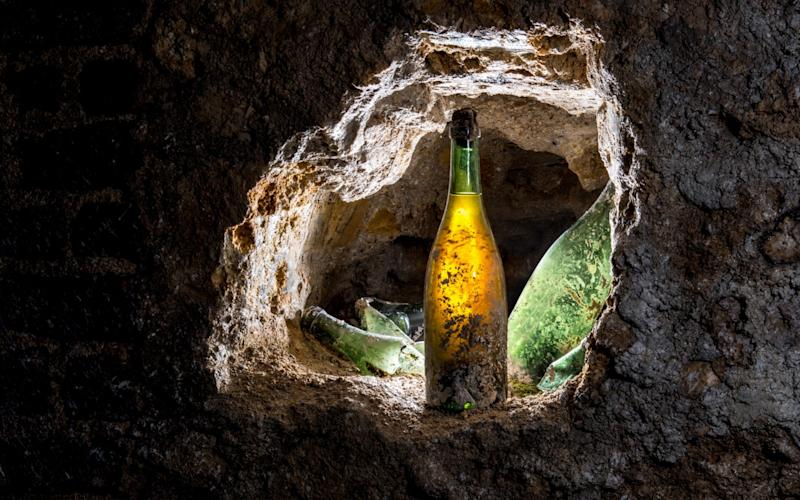 Pol Roger champagne bottle unearthed intact after spending 118 years entombed underground in a collapsed cellar - Michaël BOUDOT - www.mkb.photos