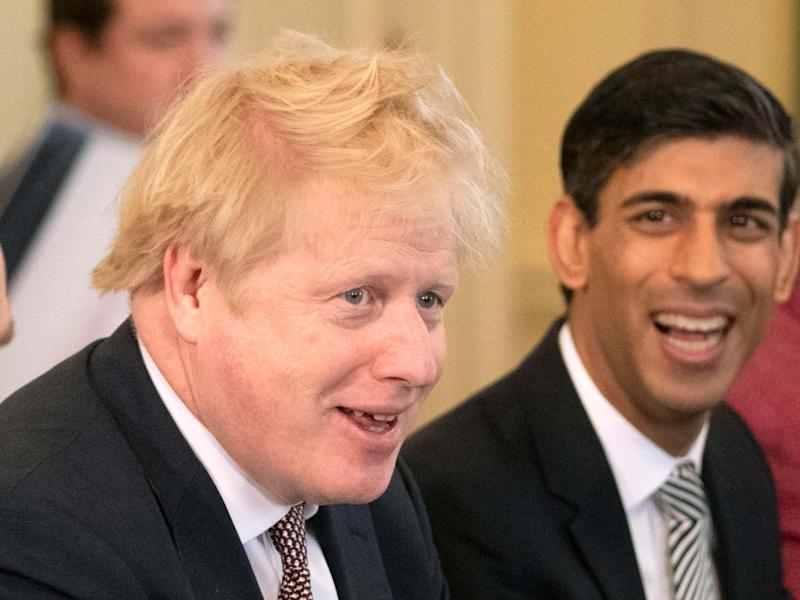 Boris Johnson with the recently appointed chancellor Rishi Sunak: PA
