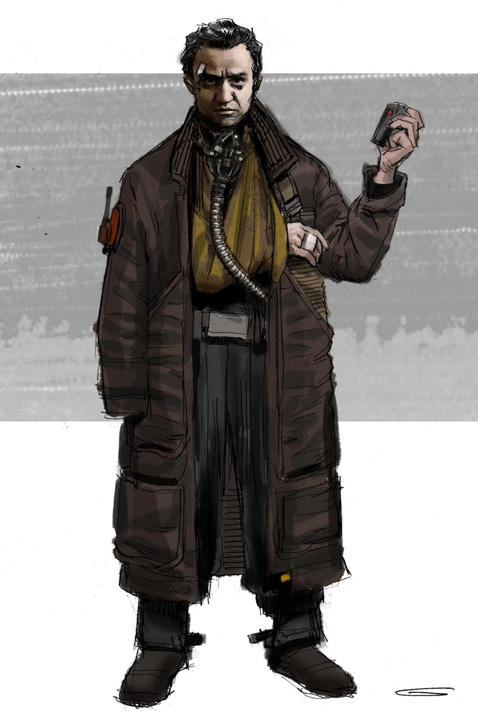 <p>This is a study of the costume worn by the Rebel spy (played by Daniel Mays) who Cassian encounters — and eliminates. </p>