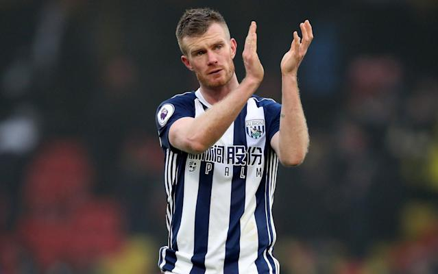 "Chris Brunt is two games away from triggering a contract extension at Premier League strugglers West Bromwich Albion. Brunt, the Northern Ireland international, will be rewarded with a new 12-month deal if he reaches 22 appearances this season to take his stay at the Hawthorns into a 12th campaign. The 33-year-old was restored to the Albion first-team for Saturday's game at Watford despite a confrontation with head coach Alan Pardew after the defeat to Huddersfield. Brunt is alleged to have clashed with Pardew over his tactics, while he also ripped into team-mates after a poor team performance against their fellow strugglers. But Brunt is expected to now play a major part in Albion's survival battle as the club fights to avoid relegation to the Championship. Brunt reportedly had a heated exchange with manager Alan Pardew last month Credit: REUTERS His present contract expires in the summer but includes a clause which triggers a 12-month extension if he plays 22 games this season. He is currently on 20. ""There are nine games still to go. There's a lot of points to play for. It's been a long, hard season for everybody. It hurts,"" he said. ""This season we haven't been playing well enough to get the points. It would be easy to chuck the towel in, but with nine games to go you can't do that. ""We have to reassure everybody that we'll definitely not be doing that. If we can win a couple you never know, other results might fall for you."" Signed from Sheffield Wednesday in 2007, Brunt has earned two promotions with West Brom and made over 360 appearances. He is set to start against Leicester in the home game this weekend."