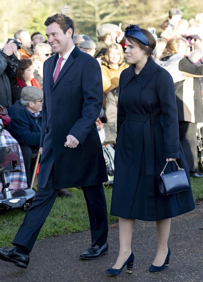 <p>The couple once again walked with their fellow Windsors to Christmas day services at the Sandringham estate—an annual royal tradition that draws crowds of well-wishers and royal watchers.</p>