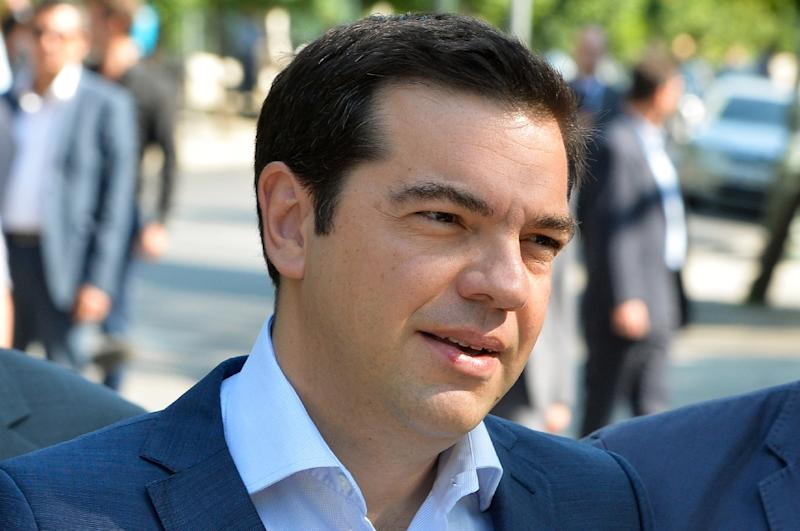 Greek Prime Minister Alexis Tsipras leaves his office in Athens, on July 6, 2015