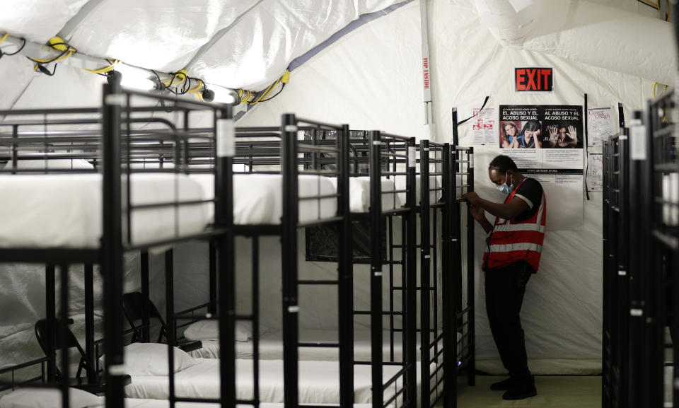 The infirmary at the U.S. government's holding center for migrant children