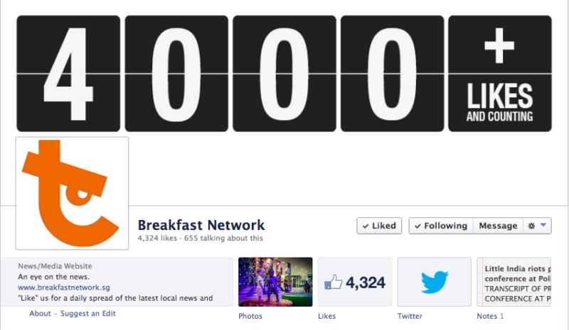 """Bertha Henson's website """"Breakfast Network"""" will be closing, but she says her team will continue to post blogs and content on its Facebook page. (Screengrab from Breakfast Network's Facebook page)"""