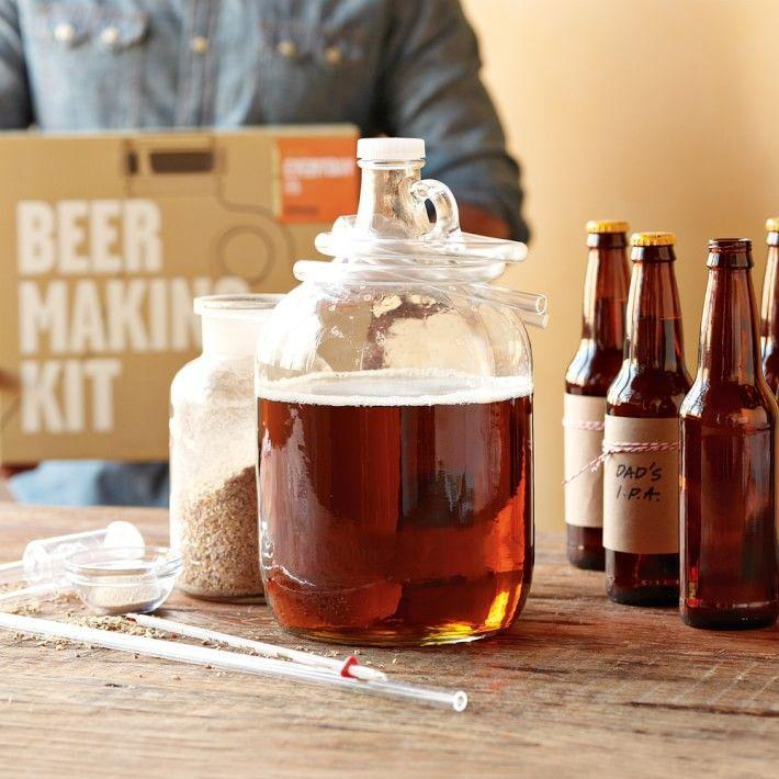 """<p>williams-sonoma.com</p><p><strong>$47.95</strong></p><p><a href=""""https://go.redirectingat.com?id=74968X1596630&url=https%3A%2F%2Fwww.williams-sonoma.com%2Fproducts%2Fbeer-making-kit&sref=https%3A%2F%2Fwww.townandcountrymag.com%2Fleisure%2Fdrinks%2Fg27244263%2Fgifts-for-beer-lovers%2F"""" rel=""""nofollow noopener"""" target=""""_blank"""" data-ylk=""""slk:Shop Now"""" class=""""link rapid-noclick-resp"""">Shop Now</a></p><p>Help them indulge their inner brewmaster with this kit that includes all of the essentials for fermenting up their own handcrafted IPA. </p>"""