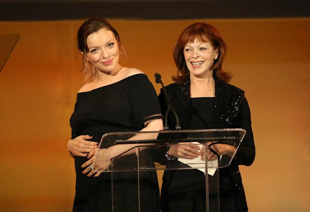 Francesca Eastwood and Frances Fisher onstage during the 28th Annual Environmental Media Association Awards at Montage Beverly Hills, Calif., on May 22, 2018. (Photo: Phillip Faraone/Getty Images for Environmental Media Association)