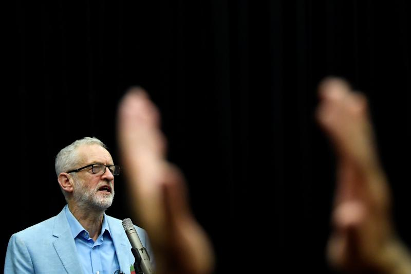 Britain's opposition Labour Party leader Jeremy Corbyn speaks during general election campaign event in Swindon, Britain November 2, 2019. REUTERS/Toby Melville