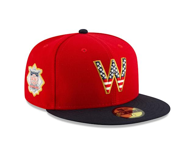 For the 12th consecutive summer, U.S.-based MLB Clubs will sport caps emblazoned with stars and stripes to celebrate the Fourth of July weekend. New this year though is that all 30 Clubs will wear one of their historic teams logos on the front of caps, while the sides feature their respective American or National League logos.