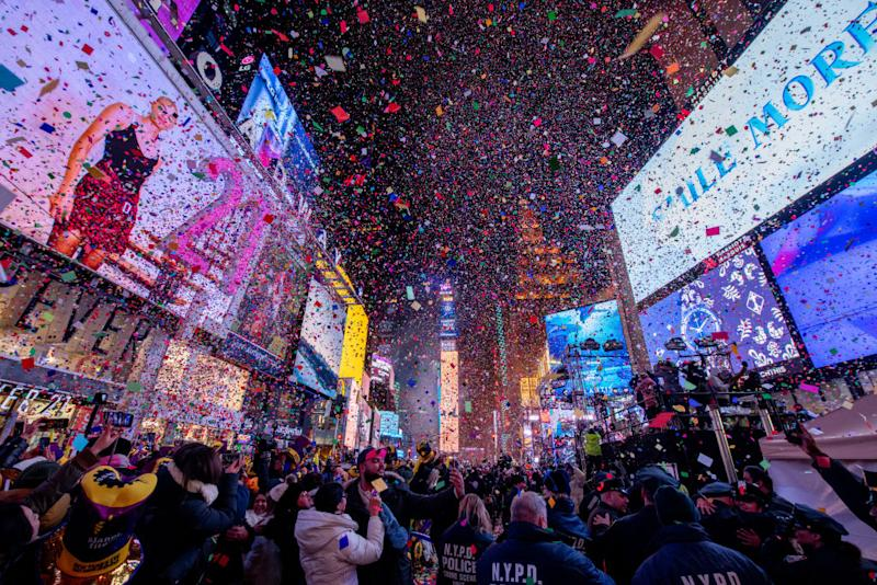 The ball drops during the 2020 New Year Celebration on December 31, 2019 in New York City. | Roy Rochlin—Getty Images
