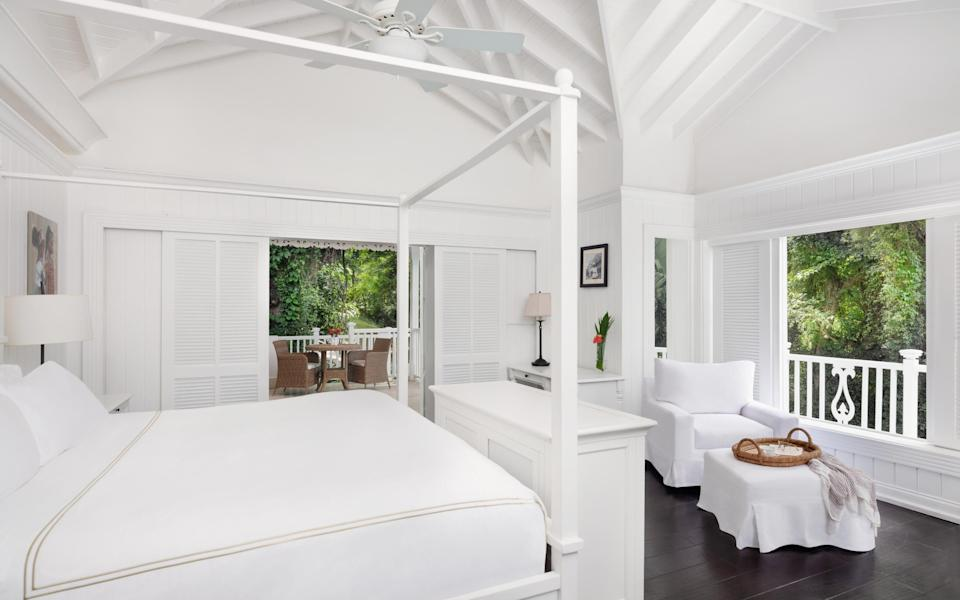A bedroom at Sugar Beach, A Viceroy Resort in St Lucia