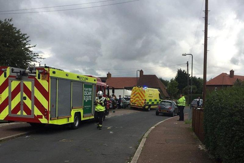 'Chemical incident': Emergency services were scrambled to the scene: @LAS_HART