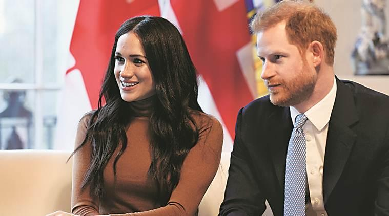 Duke and Duchess of Sussex, Harry and Meghan, royalty, Harry and Meghan stepping down as royals, Donald Trump, British royal family, indian express, indian express news