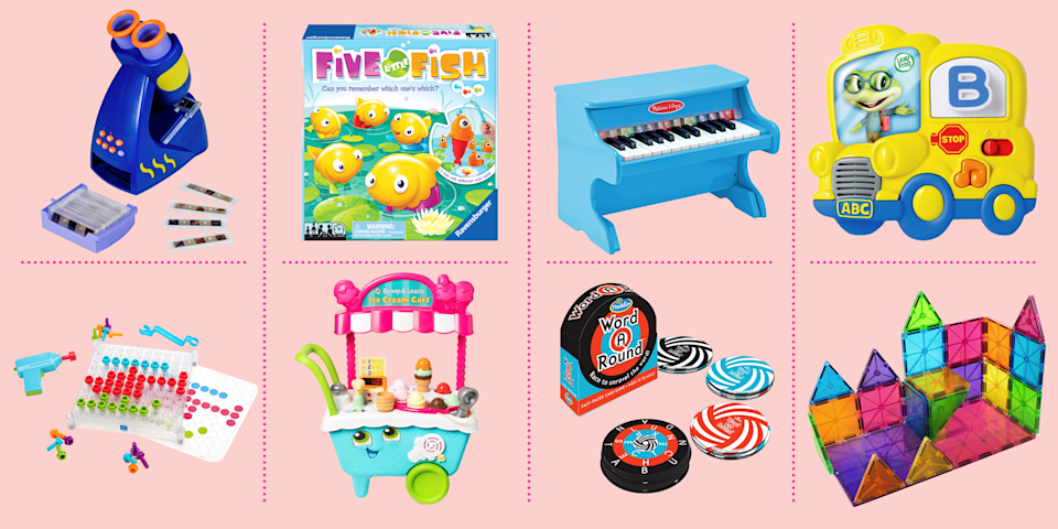 """<p>Here's a secret parents don't want to admit: Most of the <a href=""""http://www.goodhousekeeping.com/childrens-products/toy-reviews/g31132135/best-new-toys-2020/"""" rel=""""nofollow noopener"""" target=""""_blank"""" data-ylk=""""slk:kids' toys"""" class=""""link rapid-noclick-resp"""">kids' toys</a> out there are educational in some way. Even the most shameless, licensed TV- or movie tie-in, if it gets kids into the world of their imaginations, fosters pretend play or encourages role-playing, has some kind of value. But we will admit that some toys have more instructional value than others, and if you're looking to work on specific skills with your kids — or develop a budding area of interest — you might want to check out these educational toys for kids.</p><p>Our <a href=""""https://www.goodhousekeeping.com/institute/about-the-institute/a19748212/good-housekeeping-institute-product-reviews/"""" rel=""""nofollow noopener"""" target=""""_blank"""" data-ylk=""""slk:Good Housekeeping Institute"""" class=""""link rapid-noclick-resp"""">Good Housekeeping Institute</a> pros (and moms!) have found toys that deliver high marks on both fun and entertainment. The team spends the entire year meeting with toy companies to keep up on the latest and greatest offerings, and then calls in the best to put them through the paces in the Little Lab to ensure they are safe, durable, and well-constructed. We look to see that a toy has skill-building attributes across a range of development skills, including physical (gross and fine motor), educational (math, reading, writing), and social and emotional (turn-taking, role-playing) skills. From there, we confirm the best selections with the real experts — kids! Here are our favorite educational toys for 2020, from babies to toddlers to school-aged kids. And, if you're looking for ideas for toys for specific ages, check out our <a href=""""https://www.goodhousekeeping.com/childrens-products/"""" rel=""""nofollow noopener"""" target=""""_blank"""" data-ylk=""""slk:library of toy reviews"""" class=""""link rapid-noclick-res"""