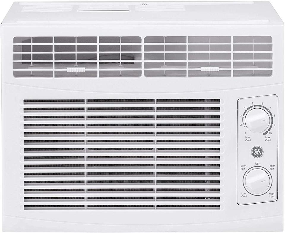 <p>The <span>GE 5000 BTU Mechanical Window Air Conditioner</span> ($160) is so compact, you probably won't even notice it's there. It comes with two cooling settings and two fan speeds, so you can adjust it to fit your space. Plus, there's a mounting kit for quick and painless installation. </p>