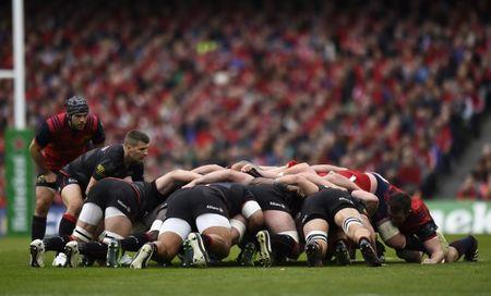 Rugby Union - Munster Rugby v Saracens - European Rugby Champions Cup Semi Final - Aviva Stadium, Dublin, Republic of Ireland - 22/4/17 General view of a scrum Reuters / Clodagh Kilcoyne Livepic