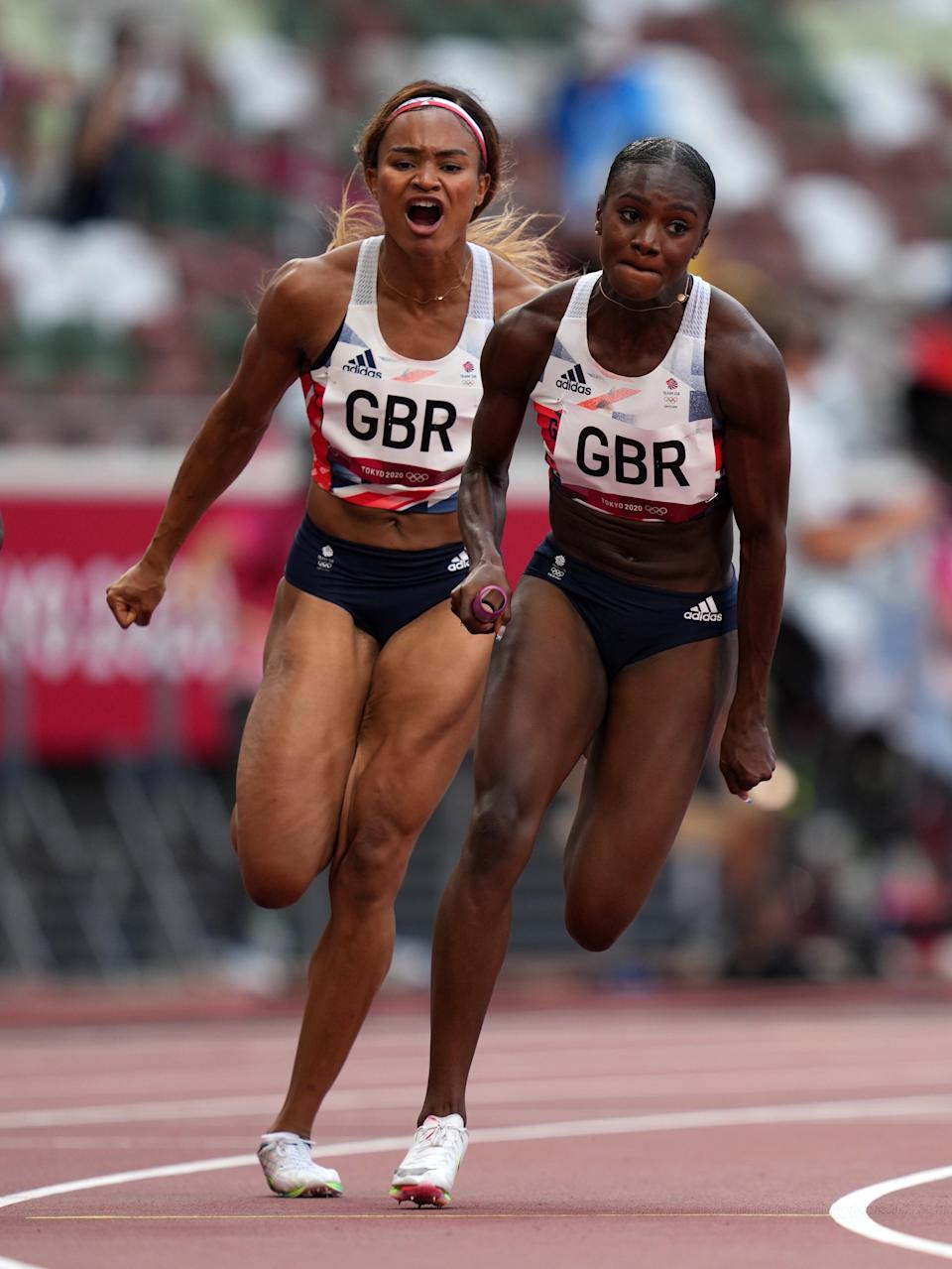 Great Britain's Dina Asher-Smith returned for the 4x100m relay (Joe Giddens/PA) (PA Wire)