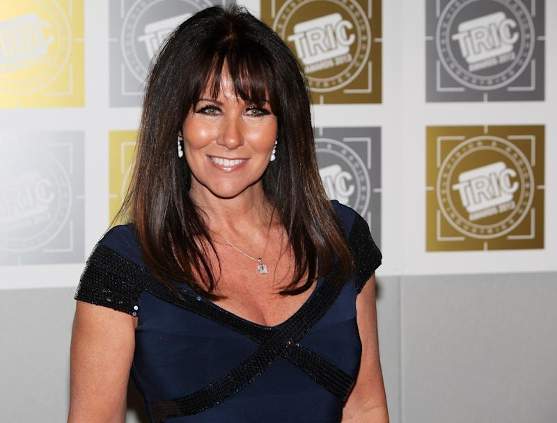 Linda Lusardi arrives at the TRIC Television and Radio Industries Club Awards at The Grosvenor House Hotel on March 12, 2013 in London, England. (Photo by Dave M. Benett/Getty Images)