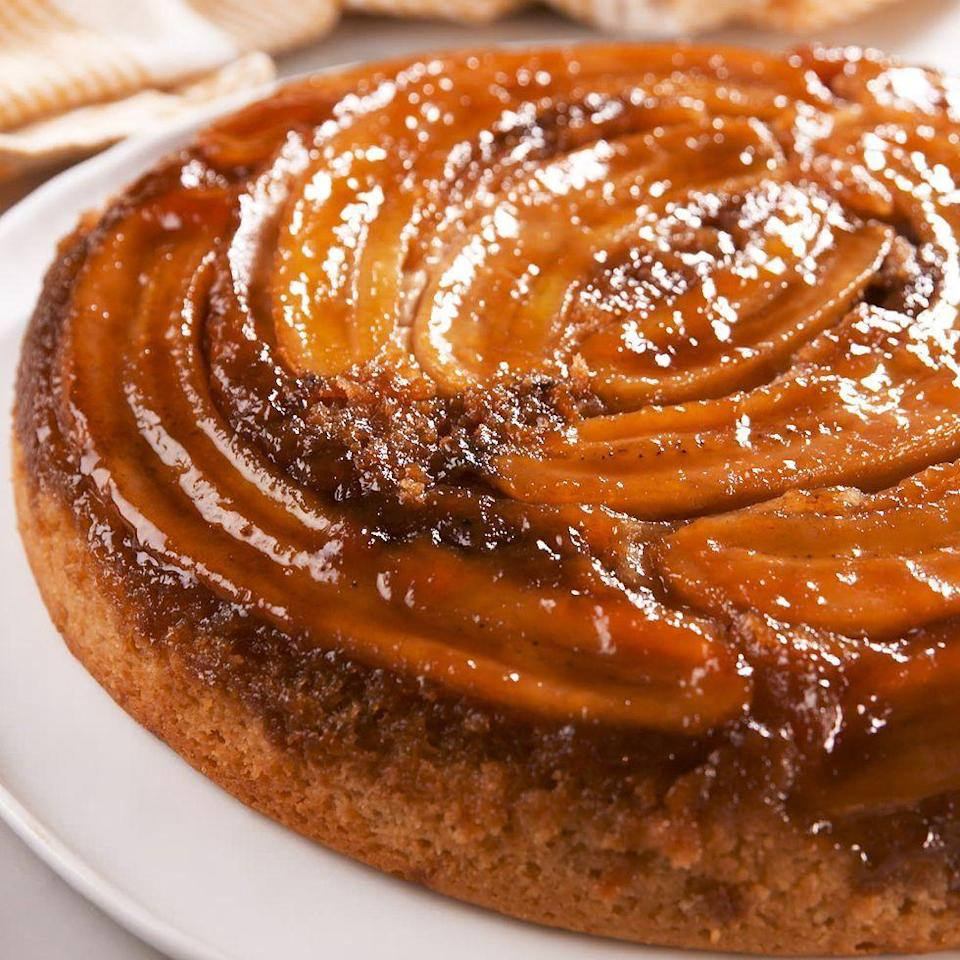 """<p>There's A LOT going on in this breathtaking <a href=""""https://www.delish.com/uk/cooking/recipes/a32312209/easy-pineapple-upside-down-cake-recipe/"""" rel=""""nofollow noopener"""" target=""""_blank"""" data-ylk=""""slk:upside-down cake"""" class=""""link rapid-noclick-resp"""">upside-down cake</a>, and it's all for good reason. The buttery brown sugar mixture in the bottom of the pan caramelises the bananas, and the creamy <a href=""""https://www.delish.com/uk/food-news/a32932146/life-hack-peanut-butter-jar/"""" rel=""""nofollow noopener"""" target=""""_blank"""" data-ylk=""""slk:peanut butter"""" class=""""link rapid-noclick-resp"""">peanut butter</a> is there to make everyone happy. Yes, the whole thing is extremely decadent, but it's not too much. In fact, a warm, fresh slice could even use a scoop of homemade vanilla <a href=""""https://www.delish.com/uk/cooking/recipes/a28827581/nesquik-no-churn-ice-cream-recipe/"""" rel=""""nofollow noopener"""" target=""""_blank"""" data-ylk=""""slk:ice cream"""" class=""""link rapid-noclick-resp"""">ice cream</a> on top. </p><p>Get the <a href=""""https://www.delish.com/uk/cooking/a33007650/peanut-butter-banana-upside-down-cake-recipe/"""" rel=""""nofollow noopener"""" target=""""_blank"""" data-ylk=""""slk:Peanut Butter & Banana Upside-Down Cake"""" class=""""link rapid-noclick-resp"""">Peanut Butter & Banana Upside-Down Cake</a> recipe.</p>"""