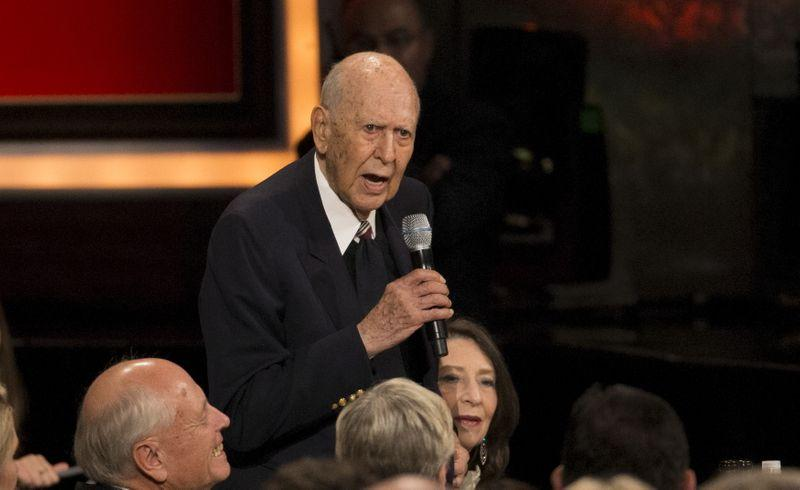 Actor Reiner speaks at the American Film Institute's 43rd Life Achievement Award at the Dolby theatre in Hollywood