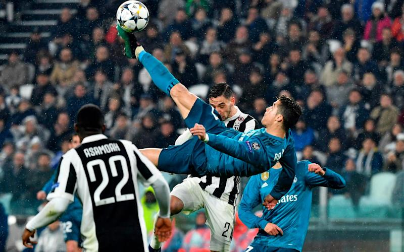 19a2d4c798 Cristiano Ronaldo's sublime overhead kick lights up Real Madrid win  over Juventus