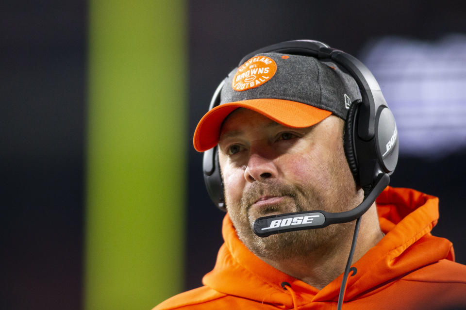 Freddie Kitchens made clear that the Browns are standing behind their former No. 1 pick. (Scott R. Galvin-USA Today)