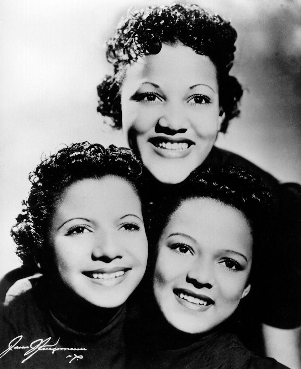 """<p>Dorothy's family moved to Hollywood around 1930. The future star formed a singing group with Vivian and their friend, Etta Jones, called the <a href=""""https://www.biography.com/actor/dorothy-dandridge"""" rel=""""nofollow noopener"""" target=""""_blank"""" data-ylk=""""slk:Dandridge Sisters"""" class=""""link rapid-noclick-resp"""">Dandridge Sisters</a>.</p>"""