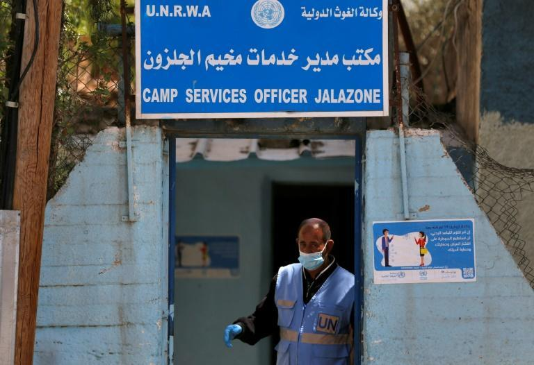 United Nations health centre in the Palestinian refugee camp of Al-Jalazoun near the West Bank town of Ramallah