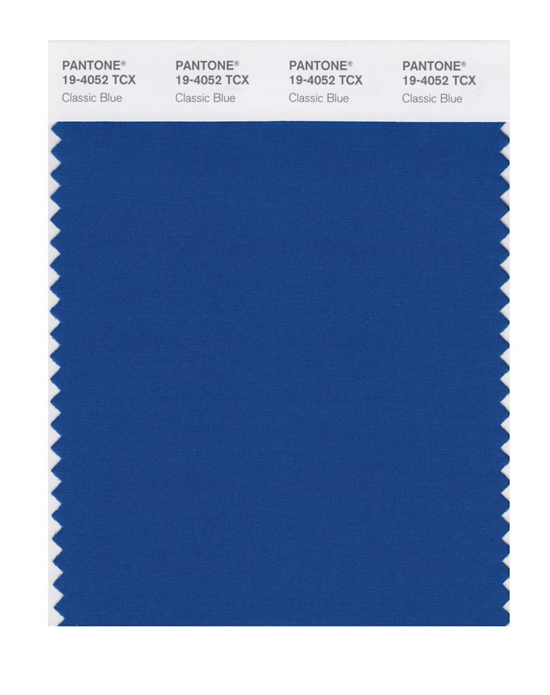 Pantone of the Year: Classic Blue.