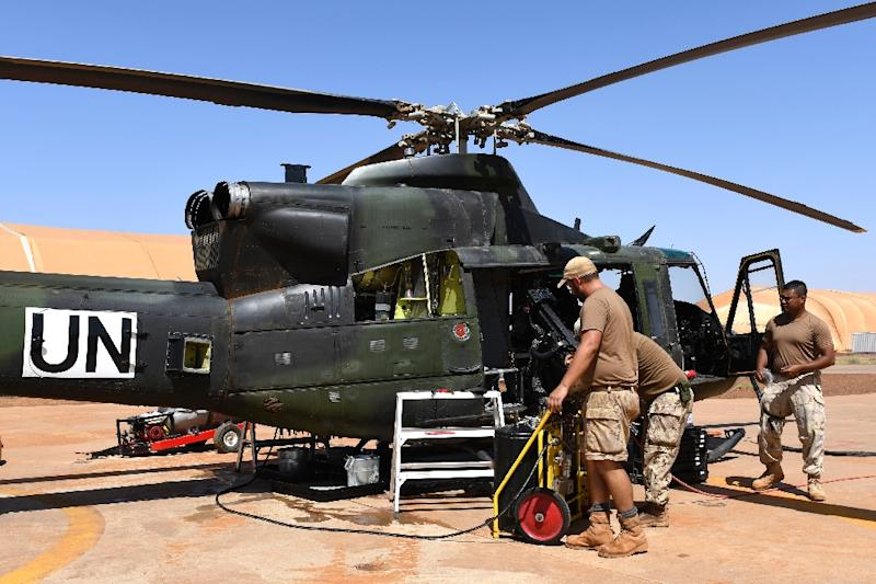 Some 250 Canadian personnel and eight helicopters were part of the country's peacekeeping contingent in Mali -- this shot was taken in Gao in August 2018
