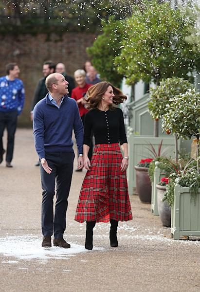 4c2193393 Prince William and Kate Middleton host Christmas party for military  families - all the photos