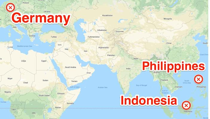 map germany indonesia philippines