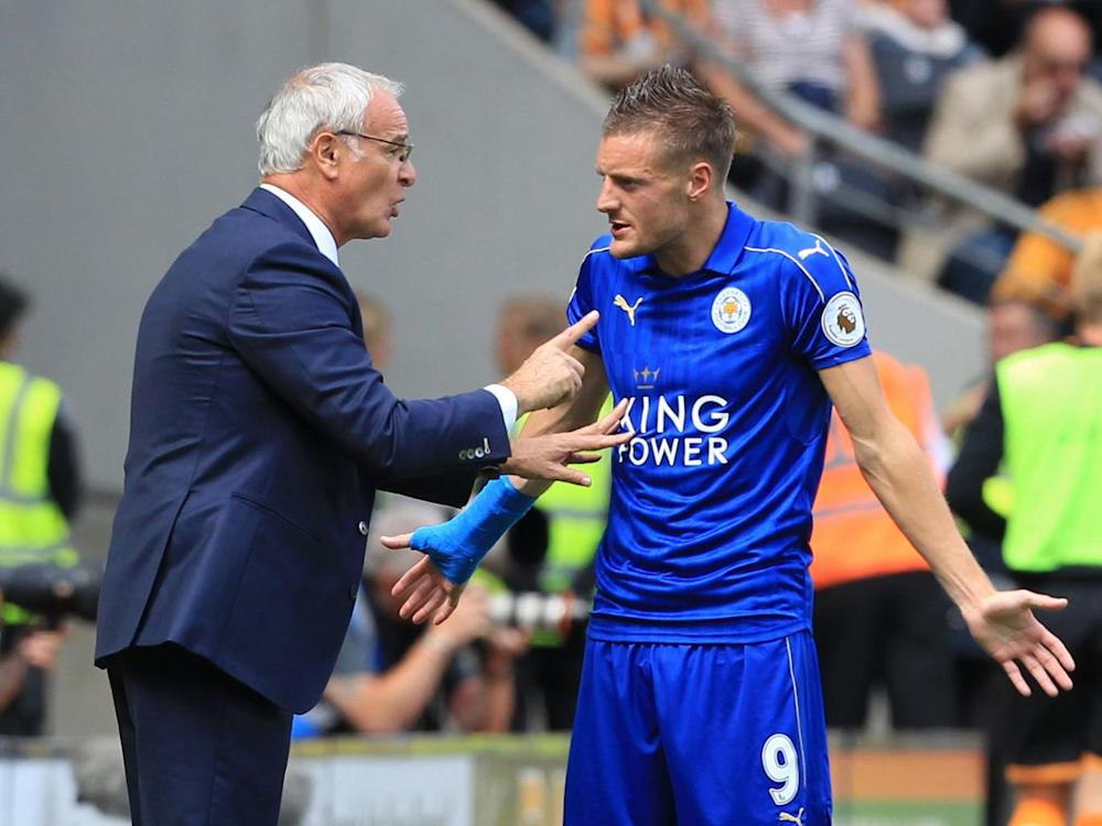 The forward has insisted he had no problem with Ranieri (AFP/Getty )