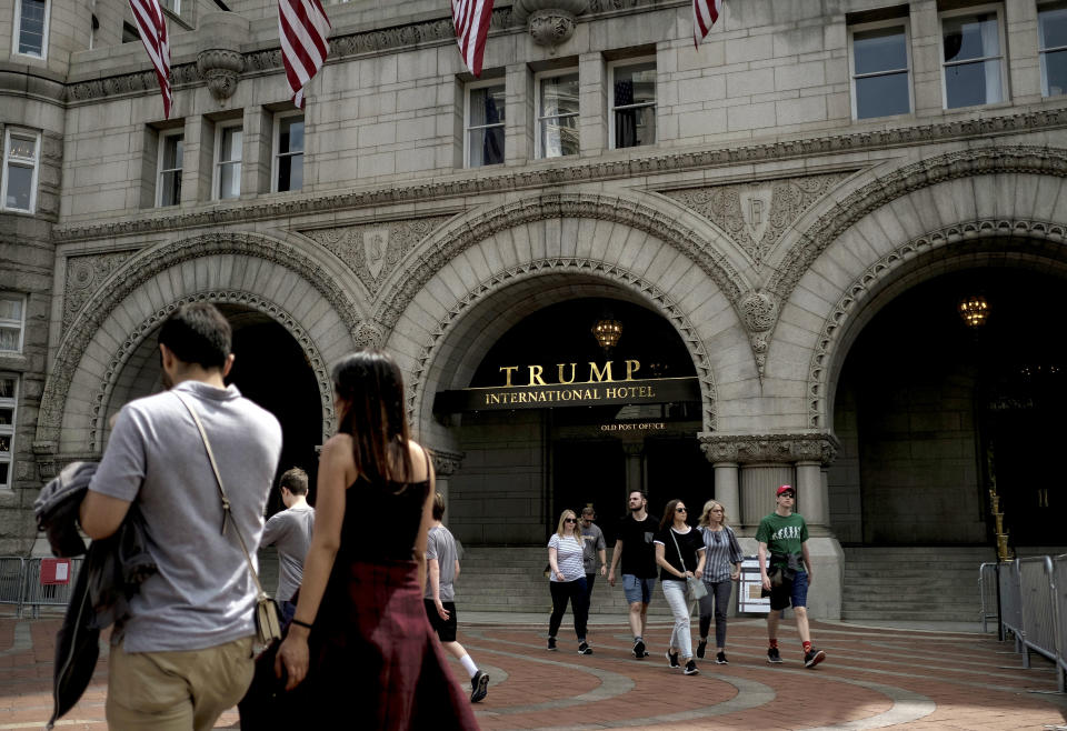 El exterior del Trump International Hotel en Washington. (Gabriella Demczuk/The New York Times)