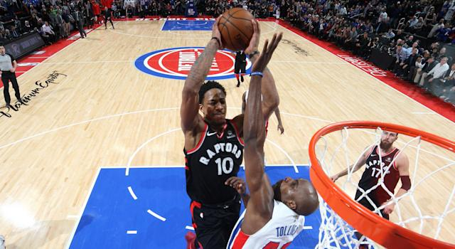 DeMar DeRozan's March 7 game saving dunk against the Detroit Pistons qualifies as one of his top five plays of the year.