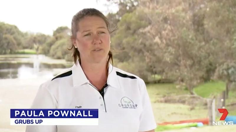 Paula Pownall is at the forefront of the bug food revolution. Source: 7 News